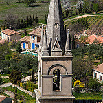 Clocher de l'église de Bonnieux by  - Bonnieux 84480 Vaucluse Provence France