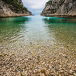 Calanque d'En-vau... la plage de caillou par  - Cassis 13260 Bouches-du-Rh&ocirc;ne Provence France